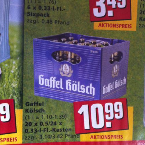 [REWE XL] Gaffel Kölsch 20x0,5l & 24x0,33l