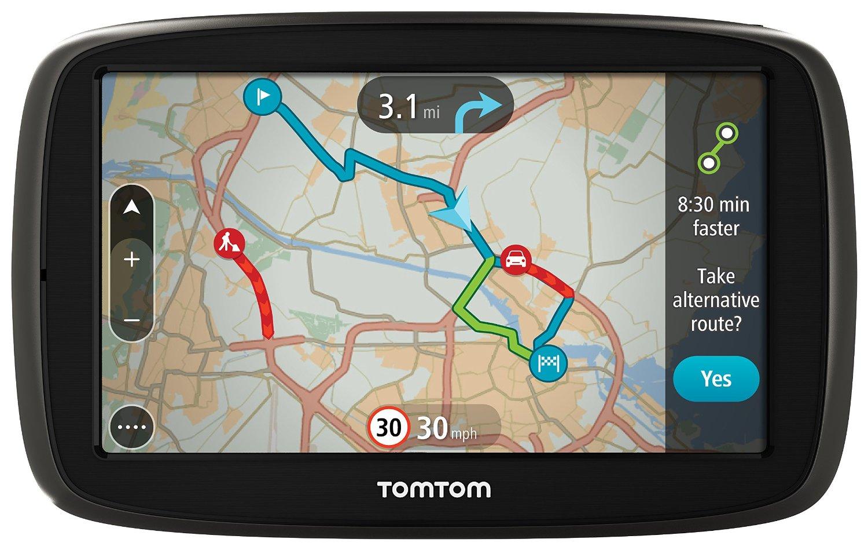 AMAZON TomTom GO 50 Satelliten-Navigationsgerät mit aktuellen Lifetime-Maps von Westeuropa und Verkehrsinformationen, 13cm (5 Zoll) für 120,46€