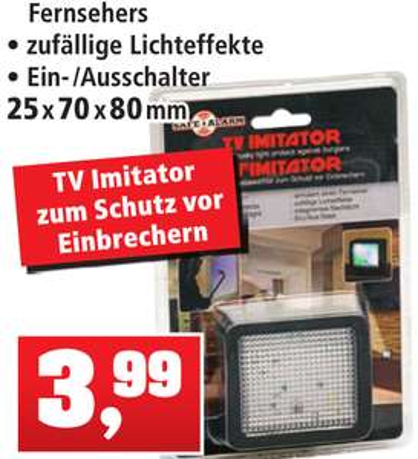 LED TV-Simulator für nur 3,99€ bei Thomas Philipps ab 23.01.17