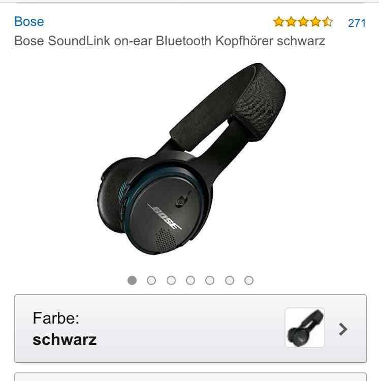 [Amazon] Bose Soundlink Kopfhörer on-ear bluetooth