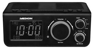 "MEDION LIFE E66323 MD 43009 PLL Uhrenradio 8 cm/3,15"" LCD-Display UKW schwarz"