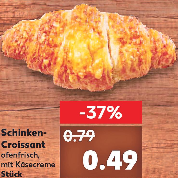 Schinken-Käse-Croissants aus der Backtheke zum Bestpreis von nur 49 CENT bei (Kaufland)