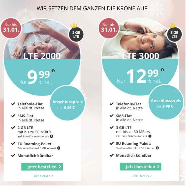 Aktionen bei Premiumsim.de - Allnet-Flat +2GB o2 LTE +EU