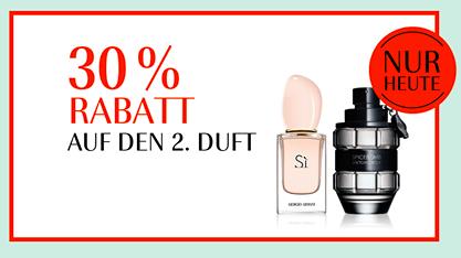 Nur heute 30% Rabatt auf den 2. Duft bei Douglas (Sale exkl.)