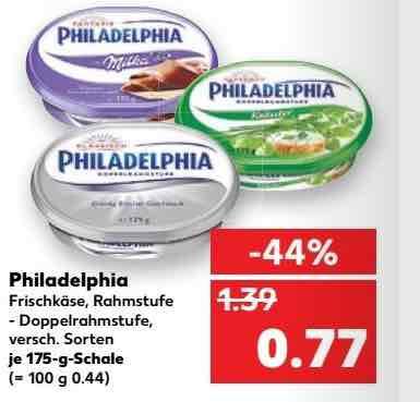 Kaufland ab 30.1. Philadelphia Milka Frischkäse mit Coupon für 27 Cent