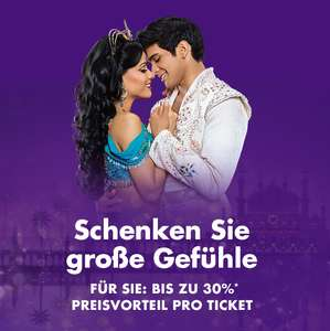 Stage Entertainment: IWNNINY, HiHo, Sister Act Berlin 30%, Aladdin, König der Löwen, Blue Man Group, Mary Poppins 25%  Glöckner 10%