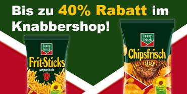 [Knabbershop] Verschiedene Chips von funny frisch & chio bis zu 40% reduziert!