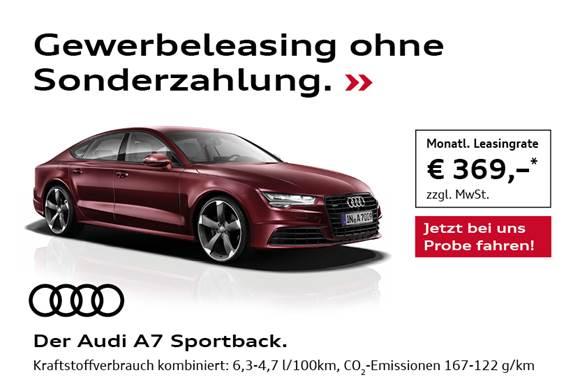 Leasing- Audi A 7 Diesel Automatik Gewerbekunden