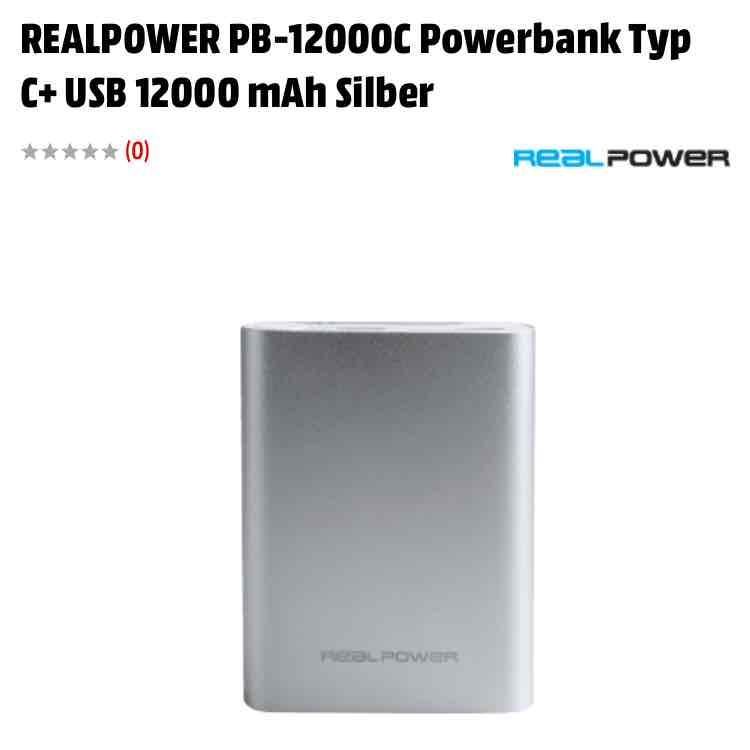 Powerbank im Alu-Gehäuse mit 12.000mAh und USB-C (für z.B. GoPro Hero5 oder MacBook mit Quick Charge!!!
