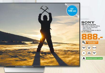 [Lokal Saturn Herford] Sony KD-55XD8505 139 cm (55 Zoll) 4K Ultra HD LCD-Fernseher, LED-Backlight, 800 Hz, DVB-T/-T2/-C/-S2 Empfänger, HbbTV, Internetfähig, WLAN, für 888,-€