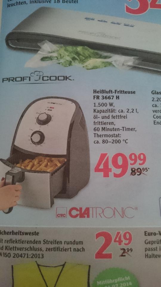 Clatronic FR 3667 H Heißluft-Friteuse