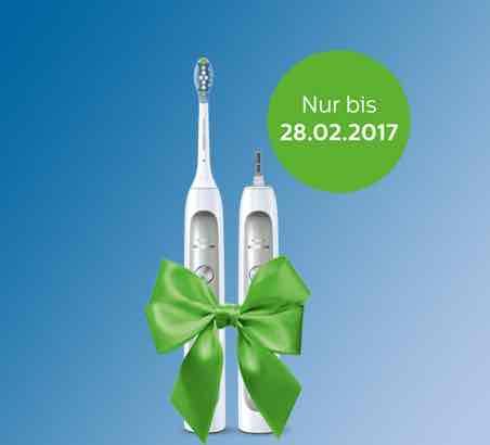 2. Handstück gratis - Philips Sonicare elektrische Zahnbürste