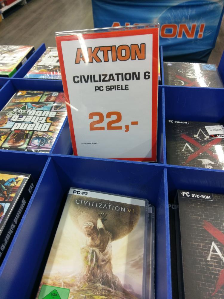 Lokal: Civilization 6 für 22 Euro bei Saturn Alexanderplatz