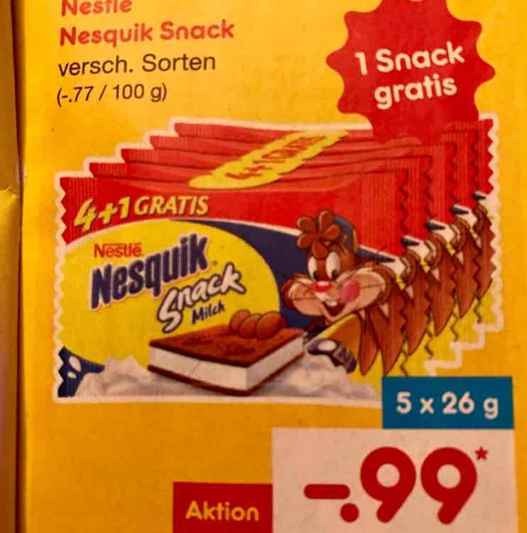 Nestlé Nesquik Snack 4+1 Gratis für 0,99€ @Netto MD