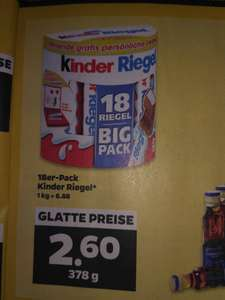 Kinder Riegel Aktionspackung Big Pack im Netto mit Hund Liebespost