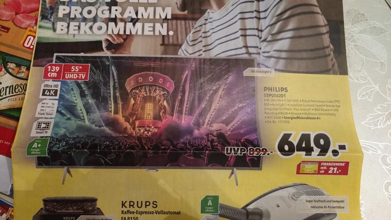 """[Lokal Medimax] Philips 55PUS6201 55"""" 4K UHD TV mit Ambilight für 649 €"""