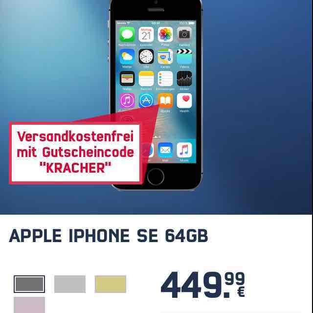 iPhone SE MIT 64 GB - 449,99€ ohne Versandkosten