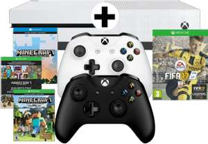 Xbox One S 500GB (weiß) + 2. Controller + Minecraft Favorites Bundle + Fifa 17 für 254,50€ inkl. Versand nach DE [Mediamarkt.at]