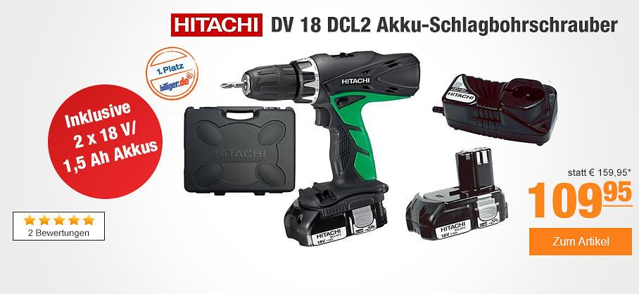 Hitachi Akkuschrauber mit 2x18V Akkus bei PLUS