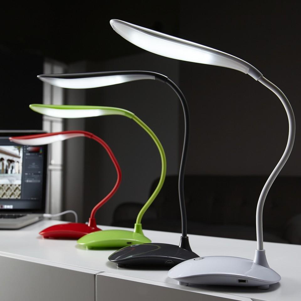 USB-Tischleuchte mit 18 LED's in 4 versch. Farben und 3 Helligkeitsstufen für 4,99€ im Dänischen Bettenlager Online und im Markt