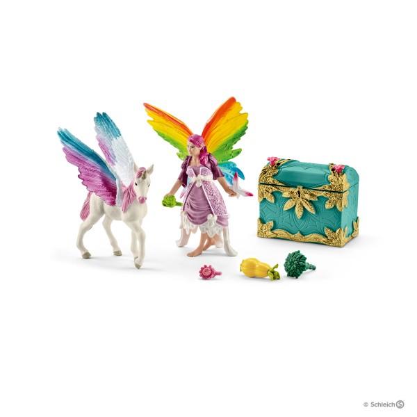 Schleich Set Regenbogenelfe Lis mit Pegasuseinhornfohlen (41440)