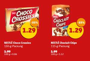 [Netto MD] Nestlé Choco Crossies (150 g) o. Choclait Chips (115 g)