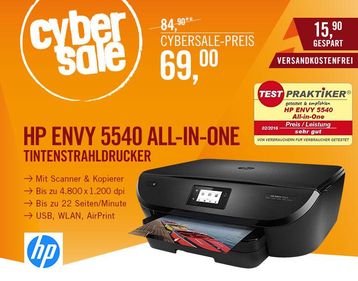 HP Envy 5540 für 69€ @ Cyberport - Tintenstrahl-Multifunktionsdrucker/Fotodrucker