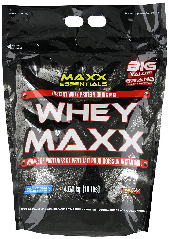 PVL Whey Maxx Protein, Vanille oder Erdbeere, 1er Pack (1 x 4.54 kg)