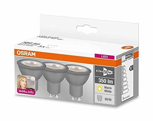 3er Pack OSRAM LED GU10 Lampe Warmweiß für 6,46 Euro statt 9,23