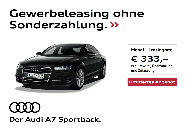 Audi A7 für Gewerbetreibende (ohne Anzahlung)