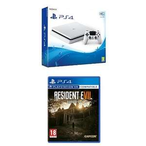 (Amazon.co.uk) PlayStation 4 Slim Weiß + Resident Evil 7 für 271€