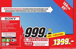 SONY KDL65W855 CBAEP LED TV (Flat, 65 Zoll, Full-HD, 3D, SMART TV, Android TV