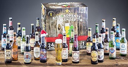 Amazon: KALEA Bier Adventskalender mit 24 Bieren+ Verkostungsglas für 23,89 statt 53,89