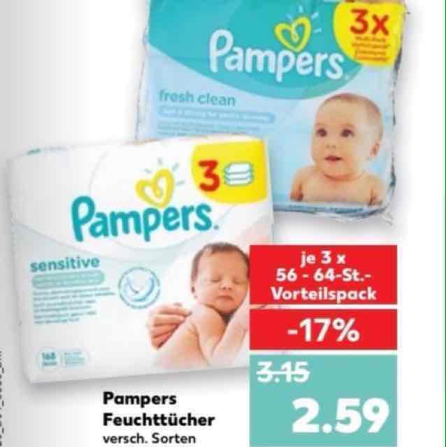 3er Pampers Feuchttücher - Kaufland - nur 0,59€ mit Coupon ab 26.01.