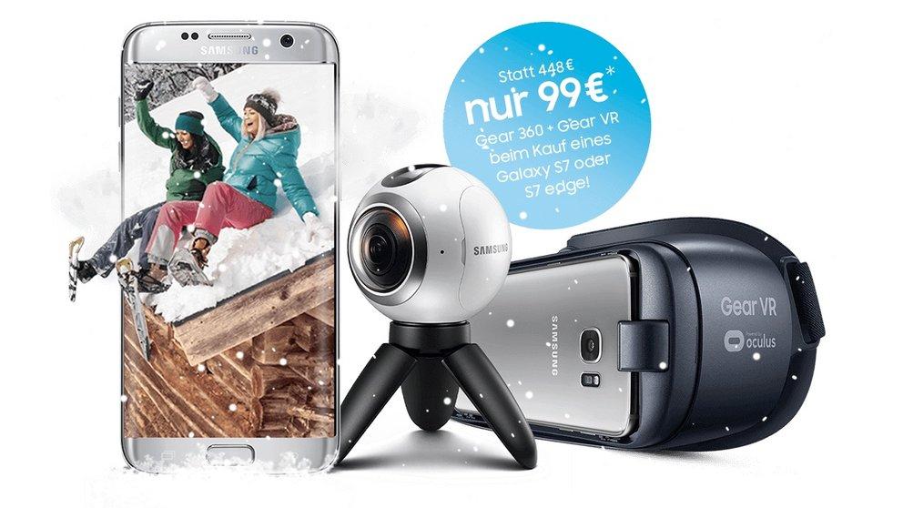 Samsung Galaxy S7 mit Flat Allnet Comfort Aktion Vodafone für 19,99  mit Samsung Bottle Lautsprecher für 29  + Gear 360 und Gear VR (mit ca.219  Gewinn)