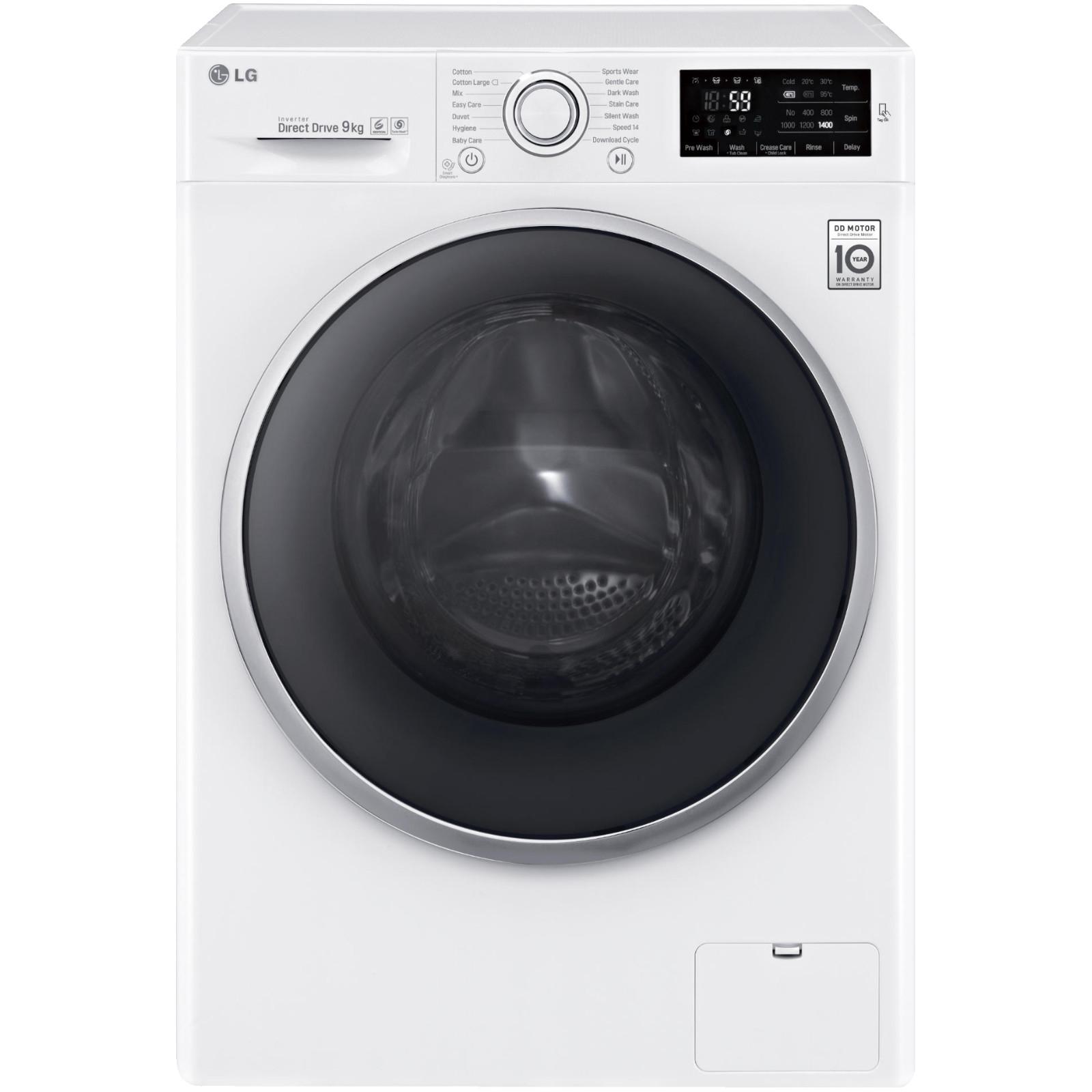 LG F14U2VDN1H Waschmaschine 9KG A+++ -30% Turbowash DirectDrive NFC AquaLock Vollwasserschutz für 377 @ ebay.de und mediamarkt.de