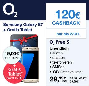 O2: WOW der Woche: Free S inkl. Samsung Galaxy S7 + Tablet +Aktion