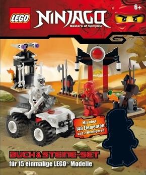 LEGO Ninjago Buch & Steine-Set (Mit 140 LEGO Elementen sowie 2 Minifiguren)
