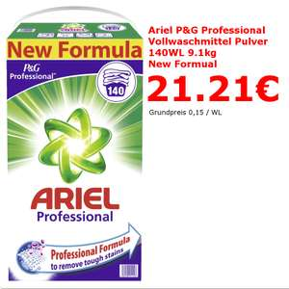 Ariel Vollwaschmittel 140W 9,1kg 21,21€  [Lokal Neuss/Düsseldorf Hagebaumarkt Neuss]