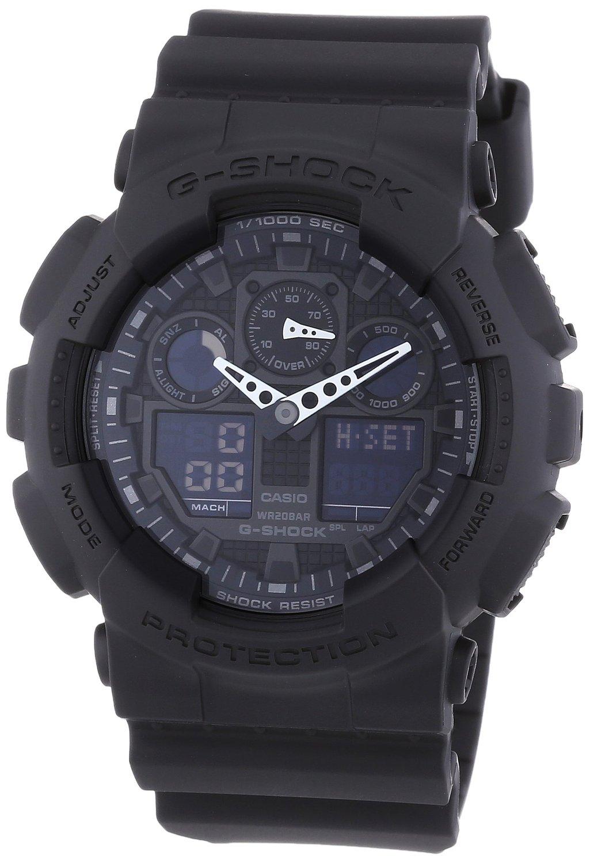 Casio Herren Armbanduhr G-Shock Analog / Digital Quarz Schwarz Resin Ga-100-1A1Er