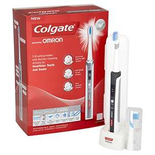 Colgate C600 ProClinical für 28,20€ bei Amazon UK - elektrische Zahnbürste (Schallzahnbürste) - Preisvergleich 70€