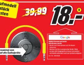 [Lokal Mediamarkt Neuburg a. d. Donau] Google Chromecast Audio - Netzwerk-Audio-Player WIFI Audio Streaming für schlappe 18,-€