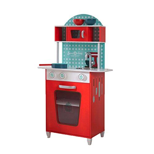 Sweet and Easy Spielküche aus Holz in Rot von beluga Spielwaren für 36,26€ bei [Amazon]