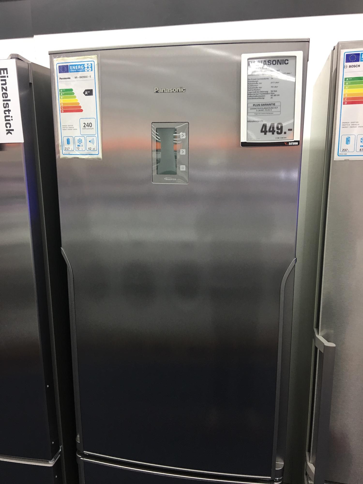 [Saturn Köln Hansaring] Panasonic Kühlgefrierkombi Nofrost NR-BN 29 SX2-E für 449€
