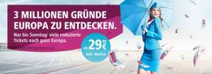 3 Millionen Tickets ab 29,99€ bei Eurowings
