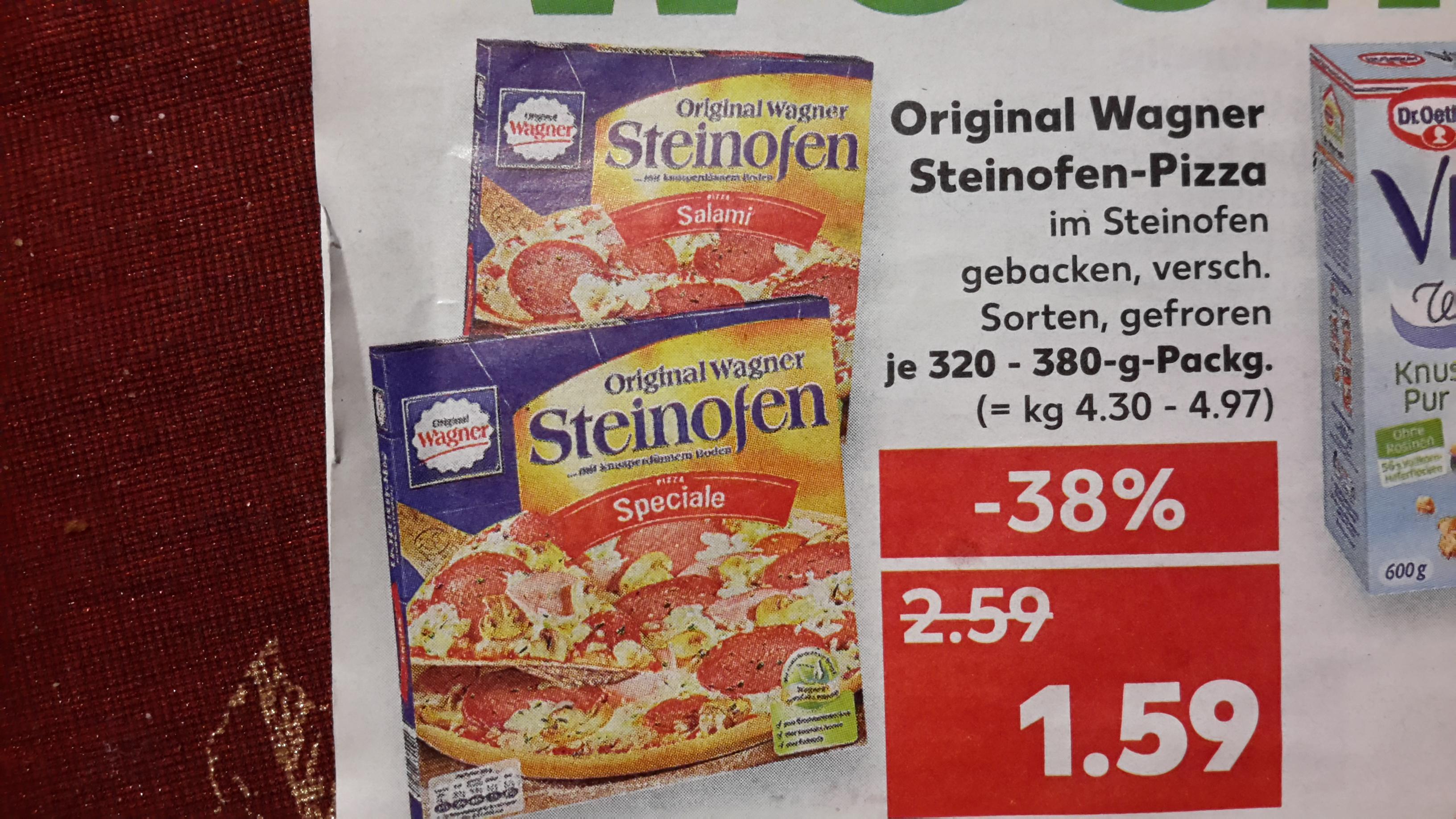 [Kaufland] Wagner Steinofen-Pizza verschiedene Sorten ab 30.01.17 für 1,59€.