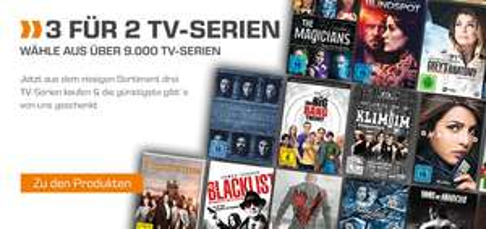 Saturn: 3 für 2 auf TV-Serien und TV-Komplettboxen - Wähle aus 9.000 Serien (DVD/Blu-ray)