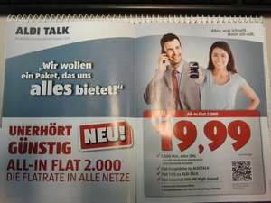 Aldi Talk ab 14.06.2012 All-Net Flat 2000 + Internet Flat 500 MB
