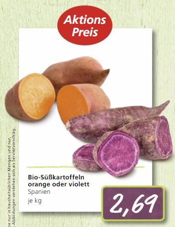 [Alnatura] Bio violette Süßkartoffeln 2,69€/kg