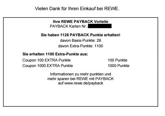 [REWE Online] 1100 Payback Punkte und 15% eCoupon für den Rewe Lieferservice 65EUR MBW